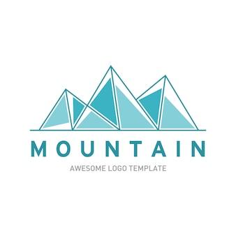 Modèle de logo de montagnes
