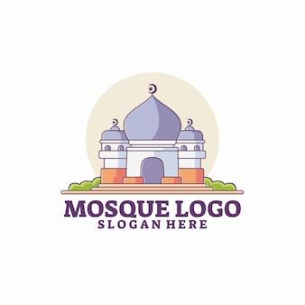 Modèle de logo de mosquée