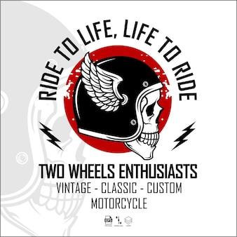 Modèle de logo de motard format prêt eps 10