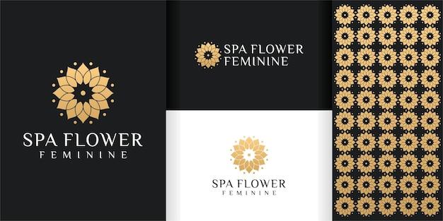 Modèle de logo et de motif de fleur