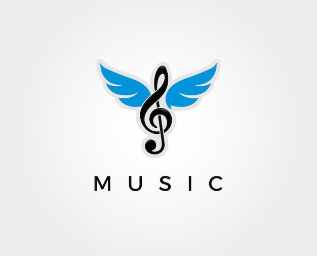 Modèle de logo de musique minimal