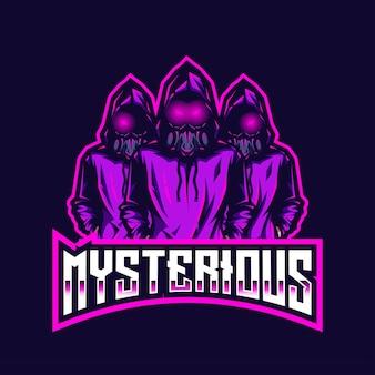Modèle de logo mystérieux esport