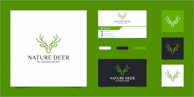 Modèle de logo nature deer