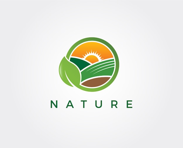Modèle de logo naturel minimal