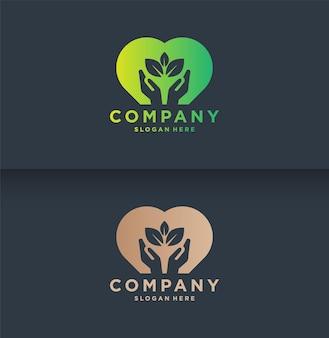 Modèle de logo naturel
