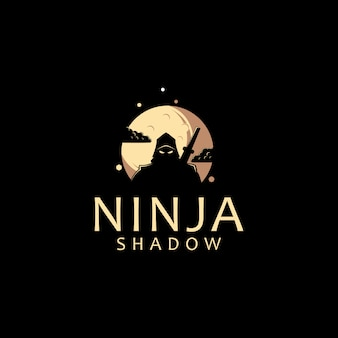Modèle de logo ninja