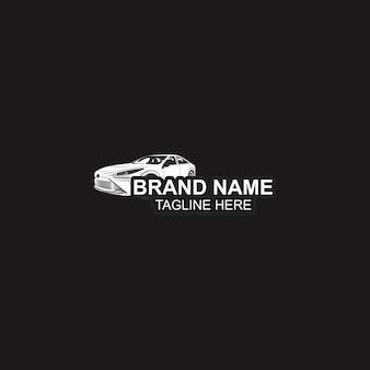 Modèle de logo et noir de voiture automobile