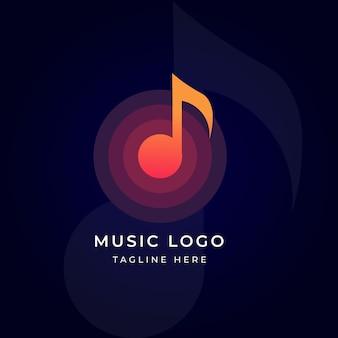 Modèle de logo de note de musique