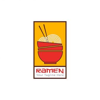 Modèle de logo de nouilles ramen