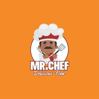 Modèle de logo de nourriture délicieuse indienne