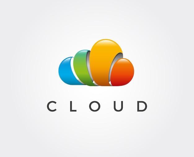 Modèle de logo de nuage minimal
