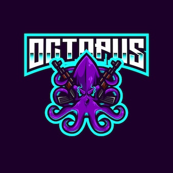 Modèle de logo octopus esport