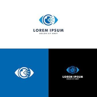 Modèle de logo oeil