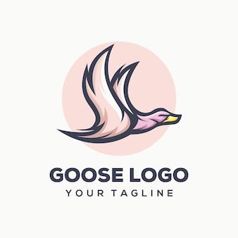 Modèle de logo d'oie