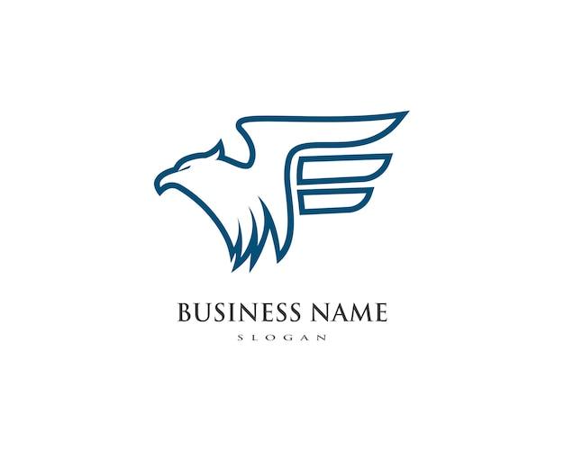 Modèle de logo d'oiseau falcon eagle