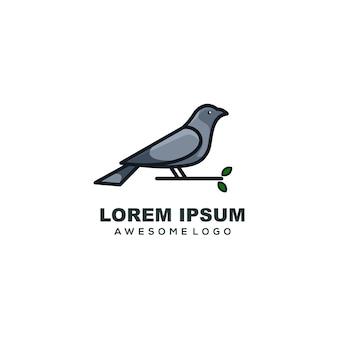 Modèle logo oiseau mascotte simple logo coloré
