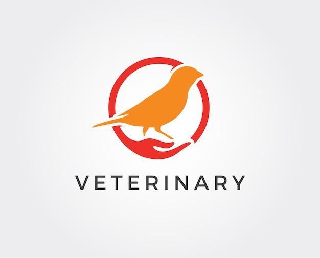 Modèle de logo d'oiseau minimal