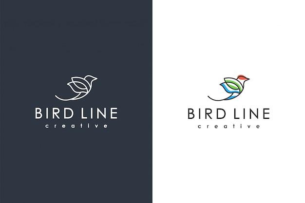 Modèle de logo oiseau minimaliste