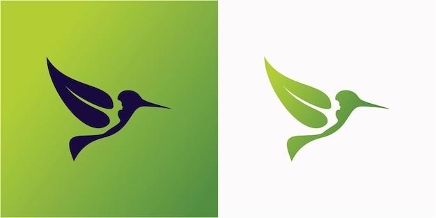Modèle de logo oiseau nature