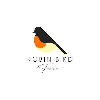 Modèle de logo oiseau robin. vecteur de logo animal. modèle de logo oiseau de compagnie