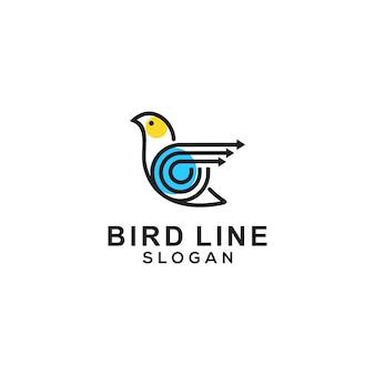 Modèle de logo d'oiseau