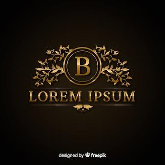 Modèle de logo d'or luxueux