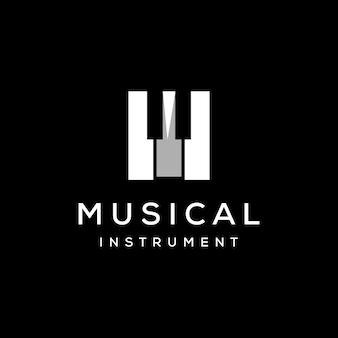 Modèle de logo d'orchestre de piano