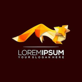 Modèle de logo origami fox
