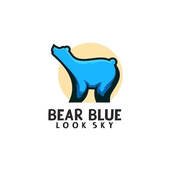 Modèle de logo d'ours