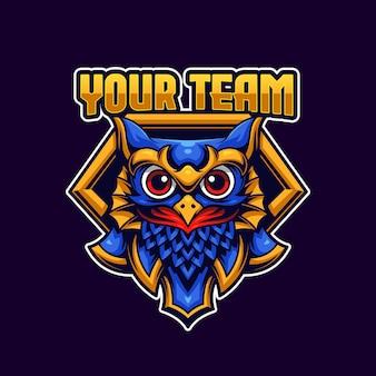 Modèle de logo owl esports