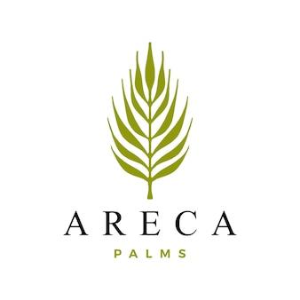 Modèle de logo de palmier d'arec