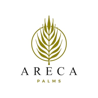 Modèle De Logo De Palmier D'arec Vecteur Premium