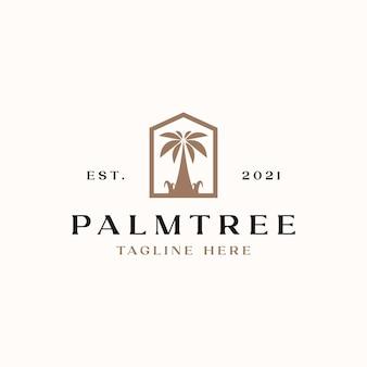 Modèle de logo palmier isolé