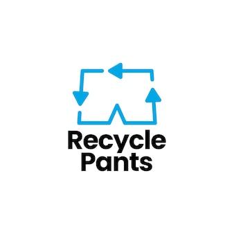 Modèle de logo de pantalon de recyclage