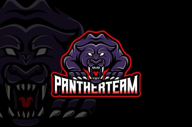 Modèle de logo panther team - esport