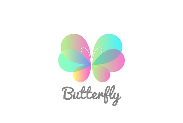 Modèle de logo papillon.