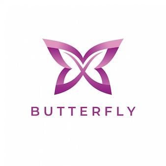 Modèle de logo de papillon