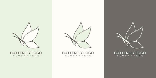 Modèle de logo papillon