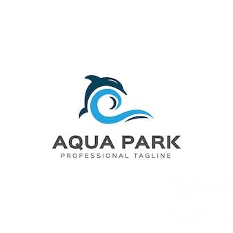 Modèle de logo de parc aquatique
