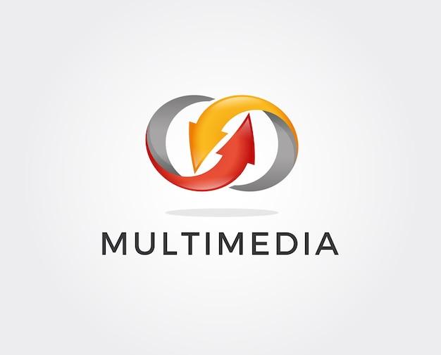 Modèle de logo de partage minimal