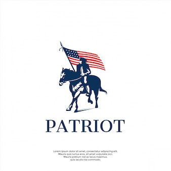 Modèle de logo patriote moderne