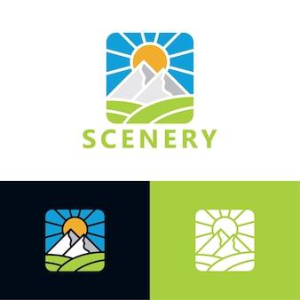 Modèle de logo de paysage