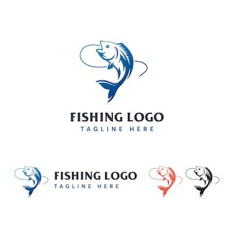 Modèle de logo de pêche