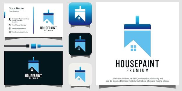 Modèle de logo de peinture à la maison