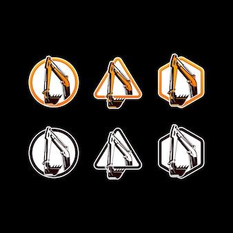 Modèle de logo de pelle