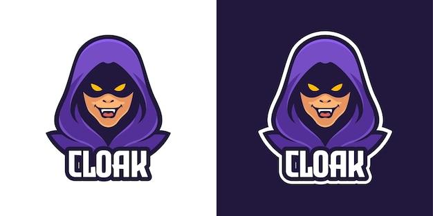 Modèle de logo de personnage mascotte homme mystérieux