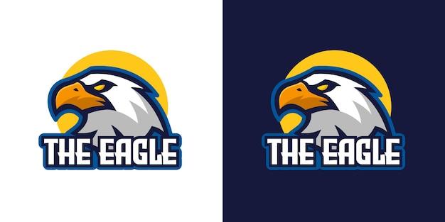 Modèle de logo de personnage mascotte oiseau aigle