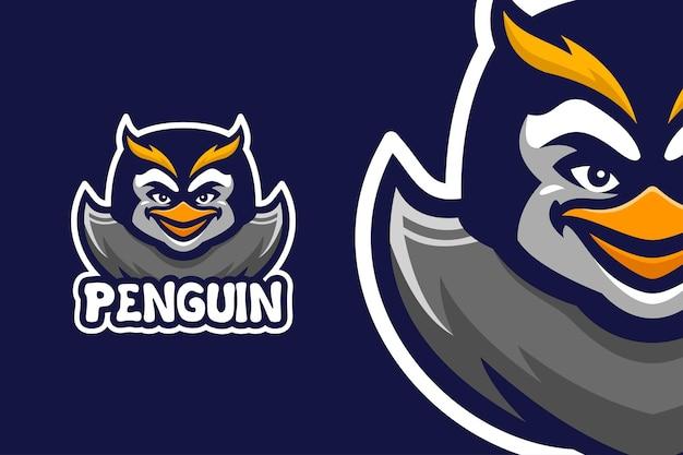 Modèle de logo de personnage de mascotte