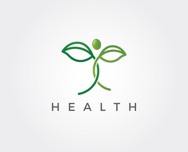 Modèle de logo de personnes de santé minimale