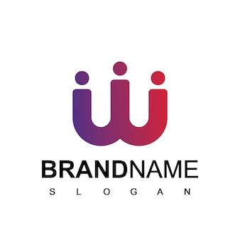 Modèle de logo de personnes symbole de la société et du travail d'équipe